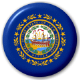 New Hampshire State Flag 25mm Pin Button Badge